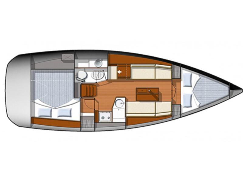 Sun Odyssey 33i (Britannia) Plan image - 1