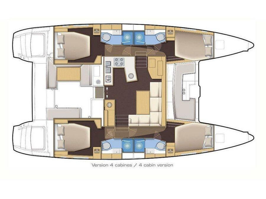 Lagoon 450 F (Endurance | A/C generator watermaker) Plan image - 3