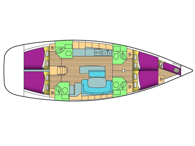 Cyclades 50.4 (Siora Maria) Plan image - 3