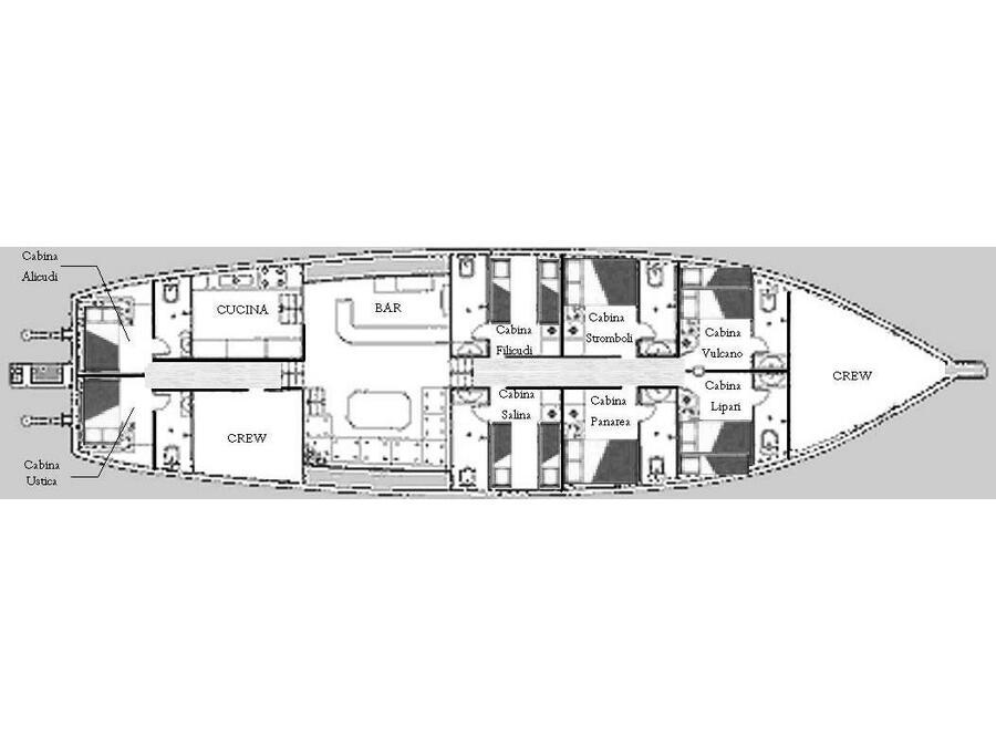 Gulet (KAPTAN YILMAZ II) Plan image - 17