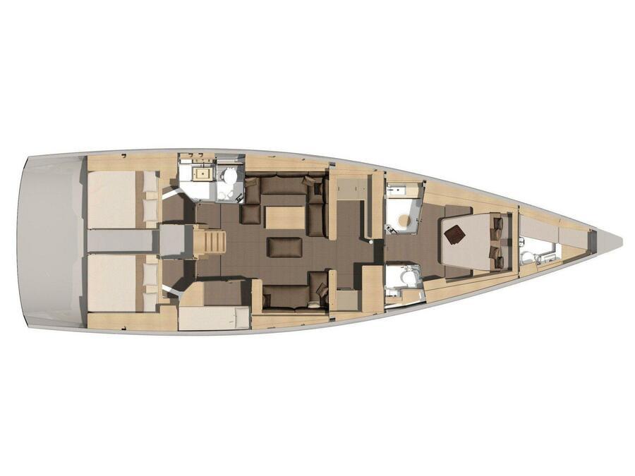 Dufour 56 Exclusive (Hola) Plan image - 7
