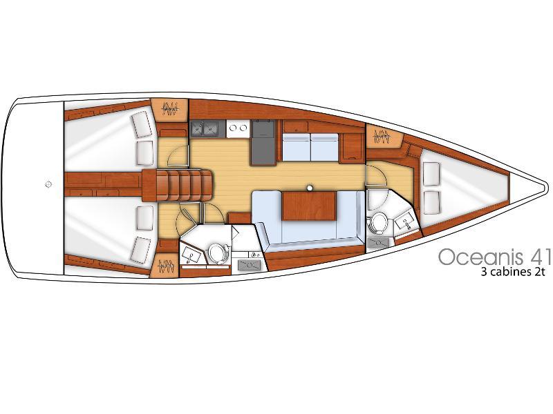Oceanis 41.1 (Zara Isabel ) Plan image - 1
