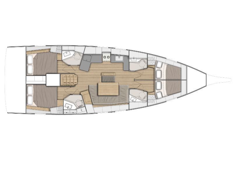 Oceanis 46.1 (Laila ) Plan image - 1