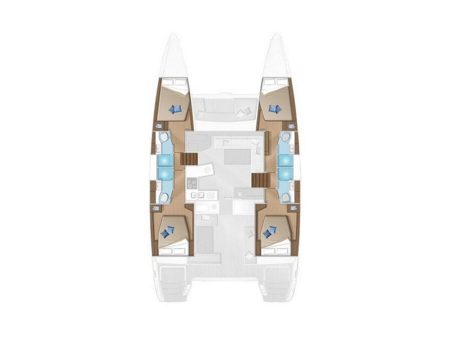 Lagoon 450F (Big Dream) Plan image - 1