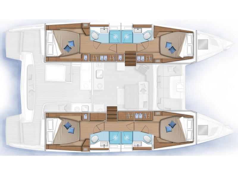 Lagoon 46 (Sundowner - Skippered) Plan image - 2