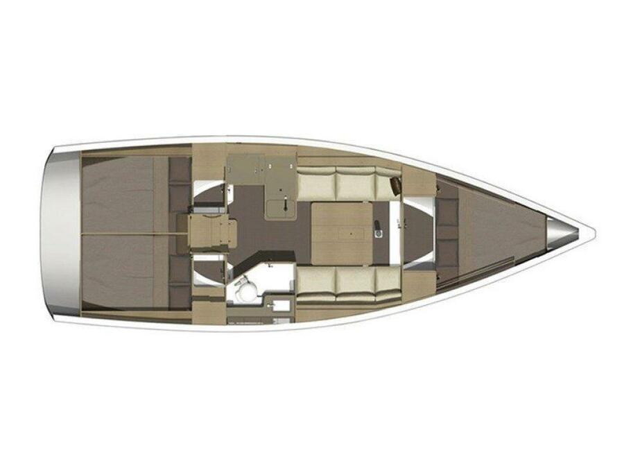 Dufour 350 Grand Large (Mirtilla) Plan image - 11