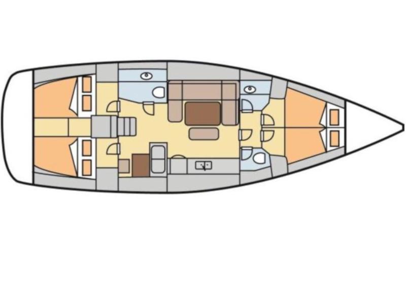 Dufour 450 Grand Large (DELICATO) Plan image - 10