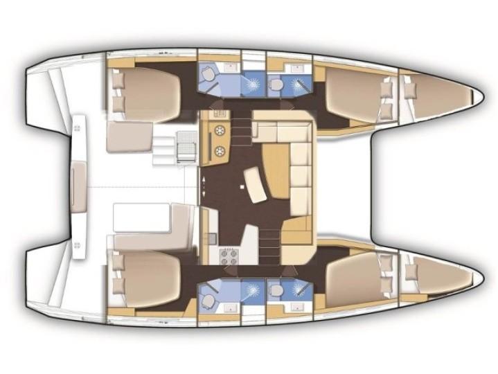 Lagoon 42 (ZEUS Deluxe Cat AC salon Generator ) Plan image - 2