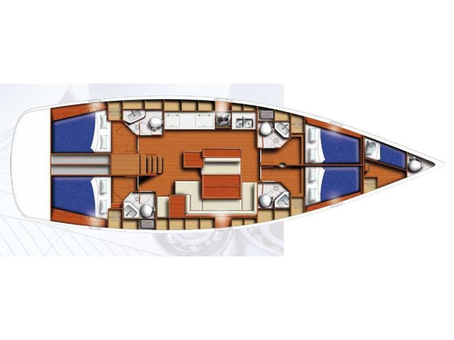 Beneteau 50 Oceanis (Aida) Plan image - 4