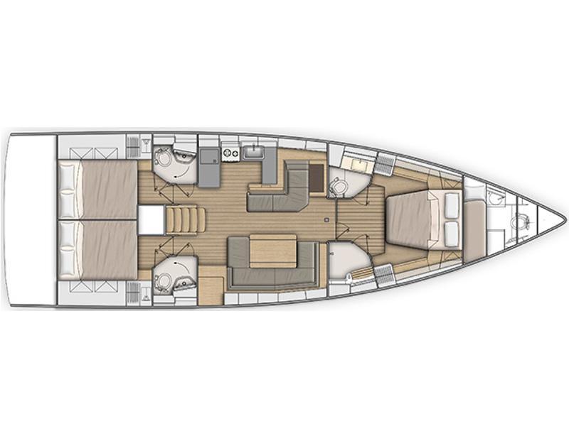 Oceanis 51.1 (Psari) Plan image - 3