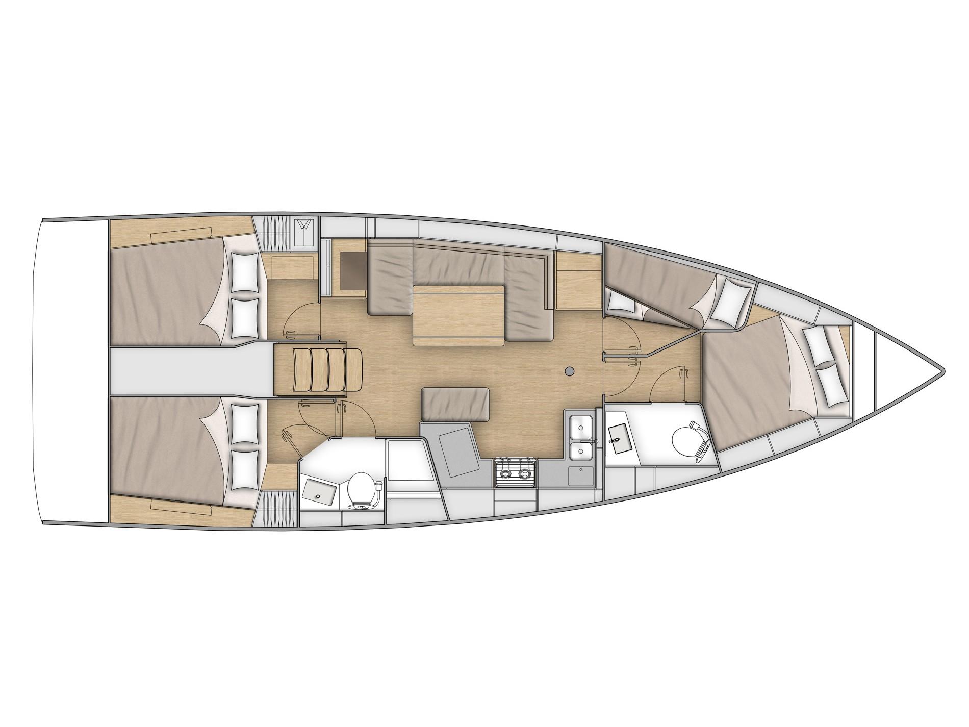 Oceanis 40.1 (KEIKI) Plan image - 4
