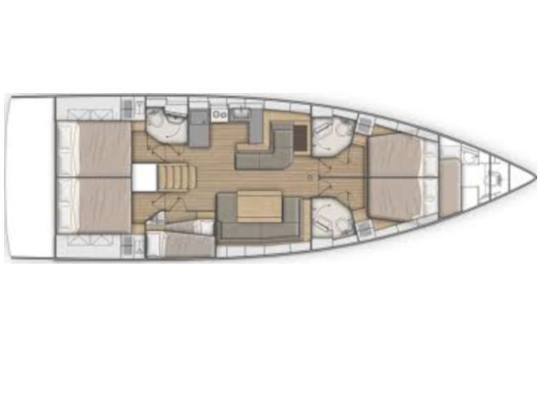 Oceanis 51.1 (Infinity) Plan image - 1