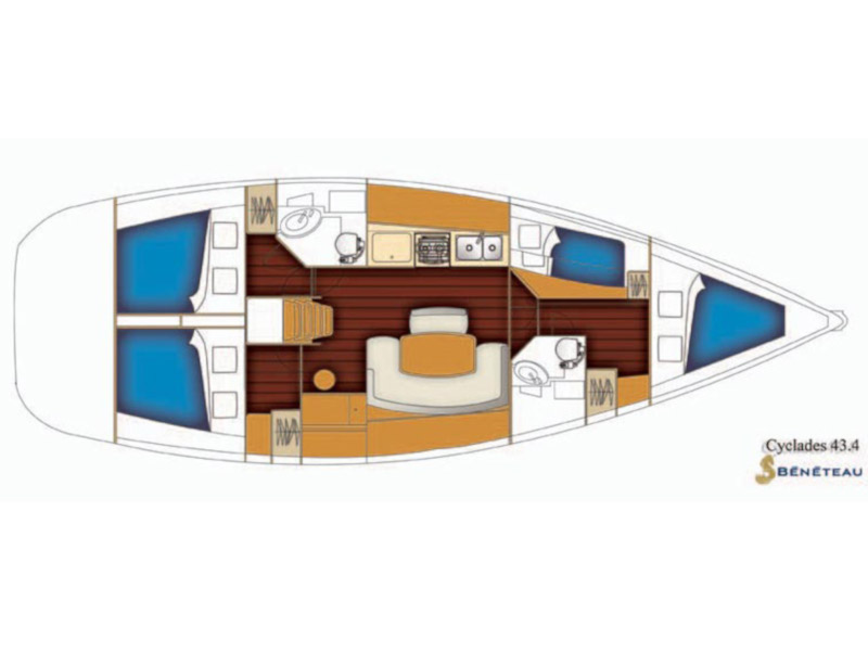 Cyclades 43.4 (Velasquez) Plan image - 4
