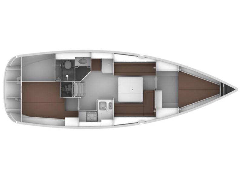 Bavaria 36 Cruiser (Coregone) Plan image - 2
