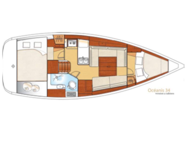 Oceanis 34 (Rebecca) Plan image - 1