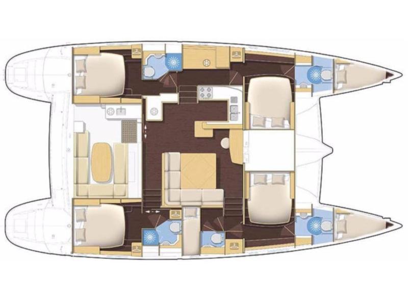 Lagoon 500 Flybridge  (Friendship ) Plan image - 2