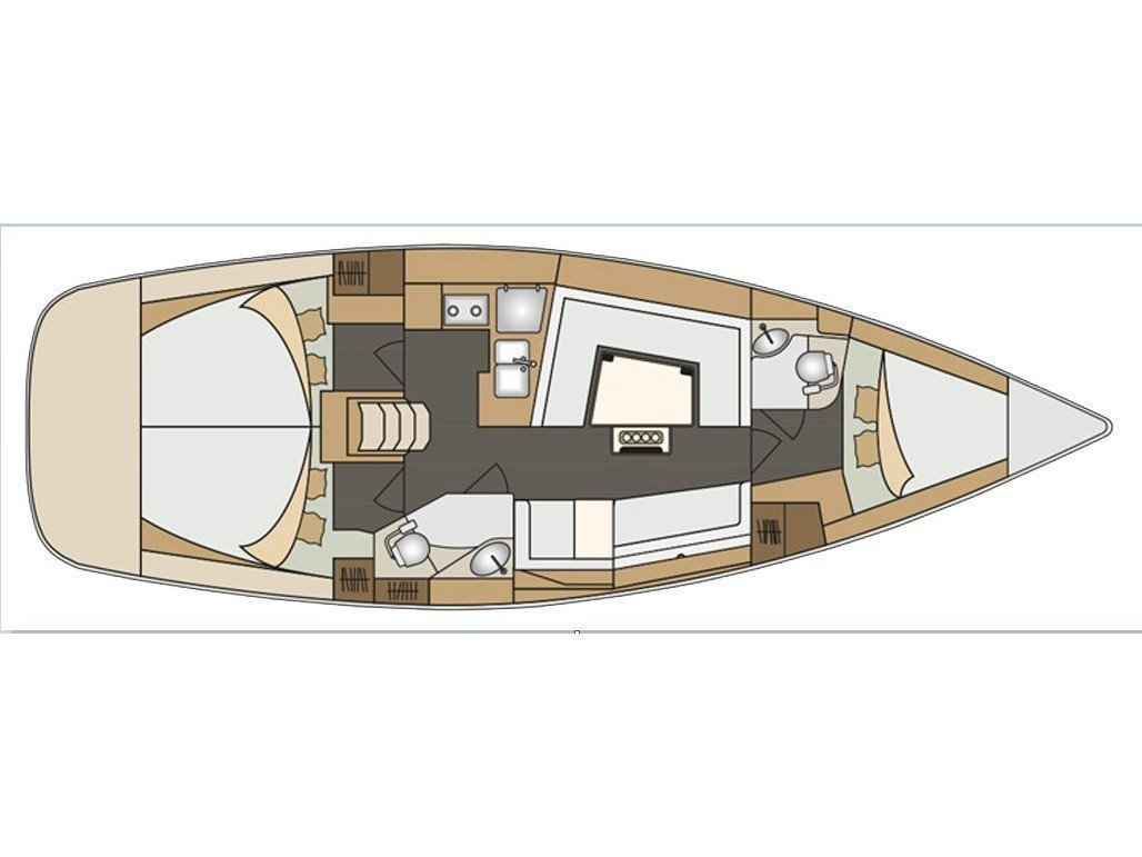 Elan 40 Impression (Black Jack) Plan image - 33