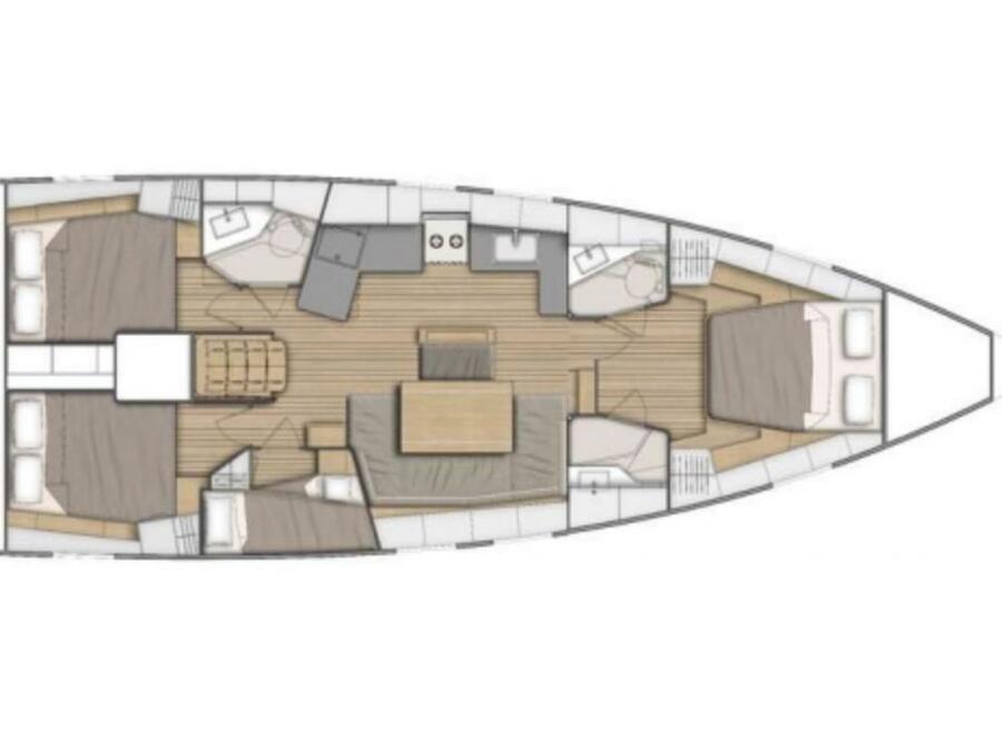 Oceanis 46.1 4 cab (Yess Boss) Plan image - 4