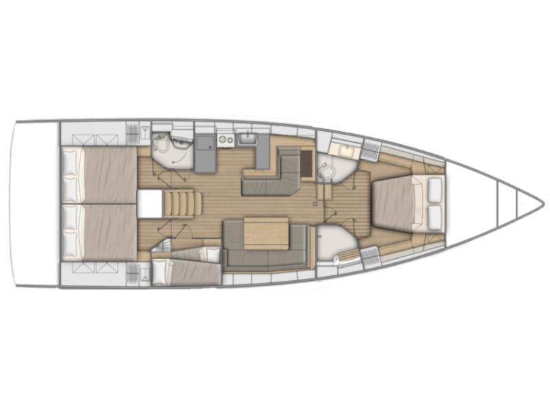 Oceanis 51.1 (Ef Zin) Plan image - 22