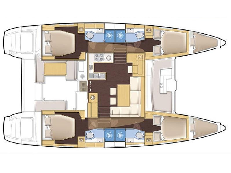 Lagoon 450 (Black Duck) Plan image - 5