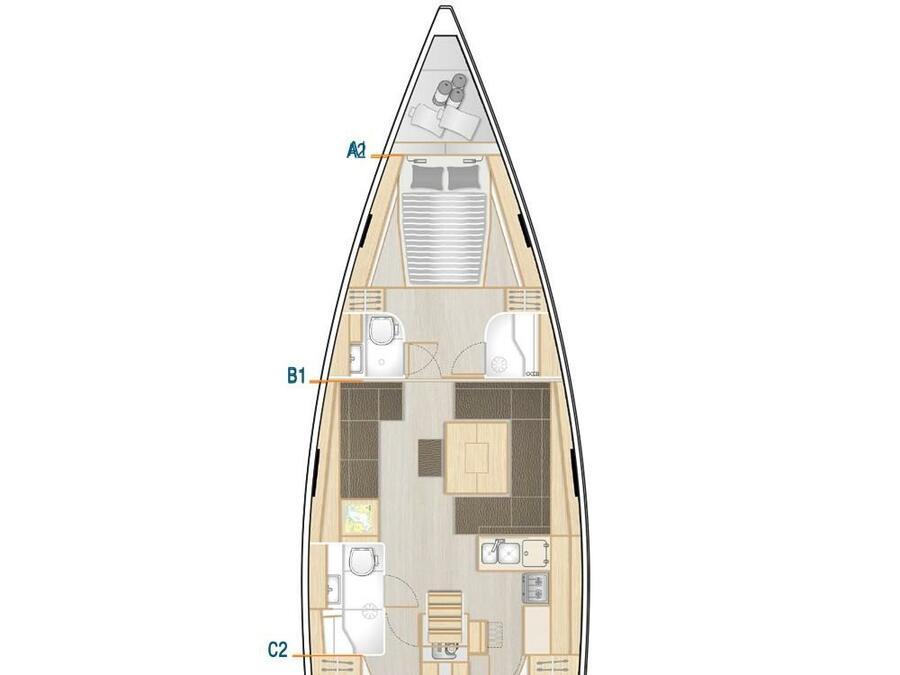 Hanse 458 (3 cab) (MERAKI) Plan image - 13