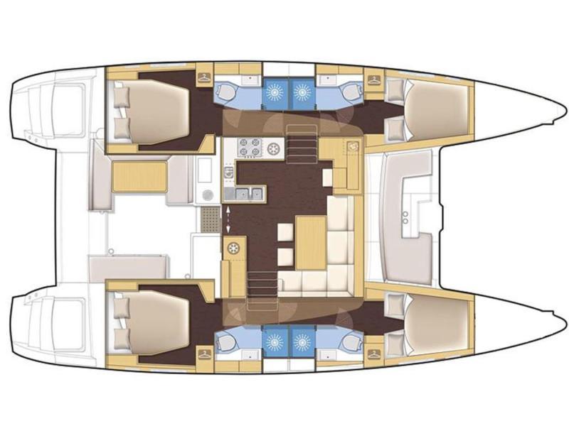 Lagoon 450 (Nathalie) Plan image - 1
