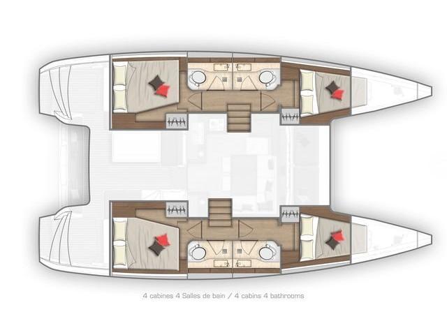 Lagoon 40 (L AVVENTURA) Plan image - 1