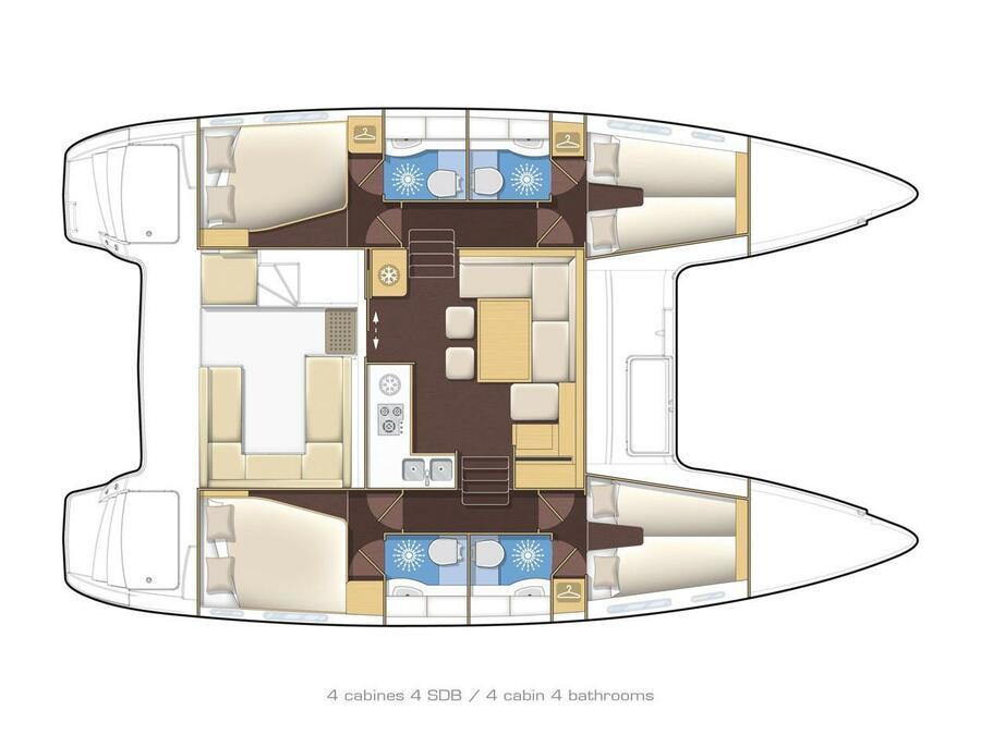 Lagoon 400 S2 (Seaker) Plan image - 17