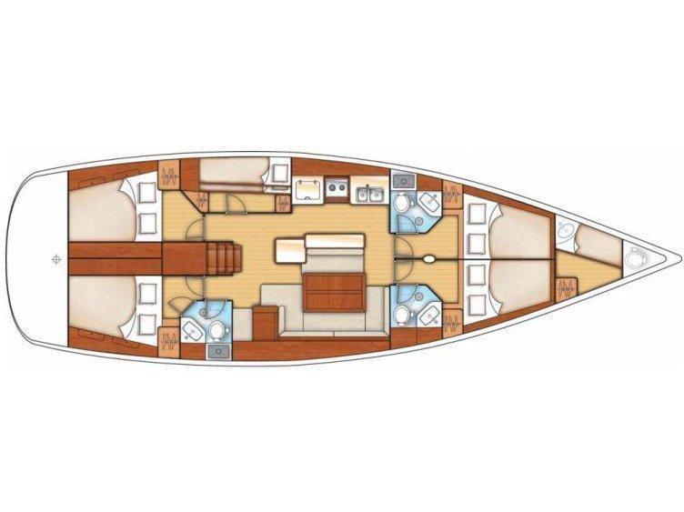 Oceanis 50 (O50-10-A) Plan image - 2