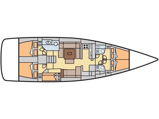 Dufour 520 Grand Large (Malù) Plan image - 2