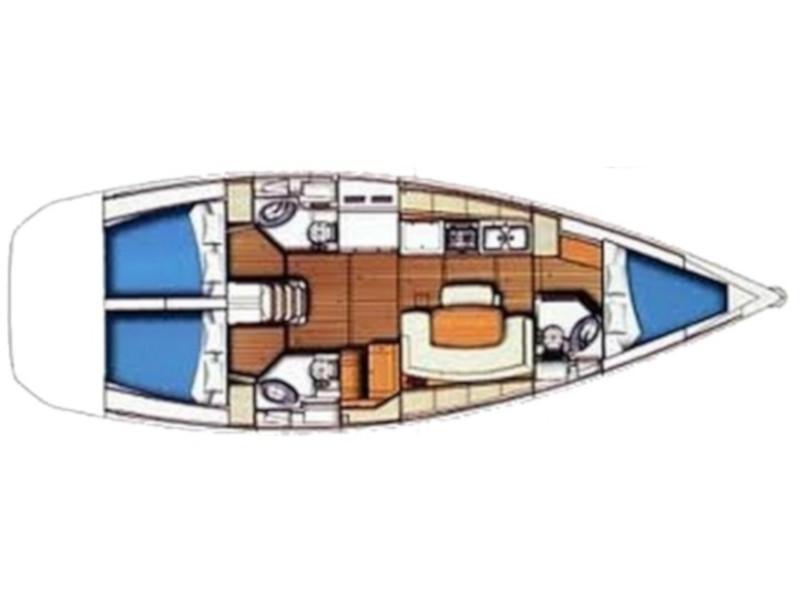Cyclades 43.3 (Tecno Sail) Plan image - 5