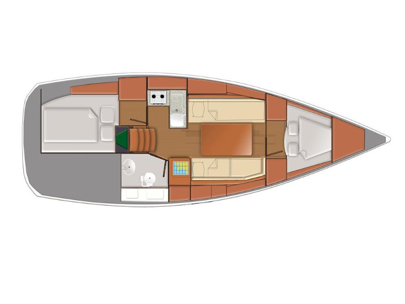 Sun Odyssey 319 () Plan image - 1