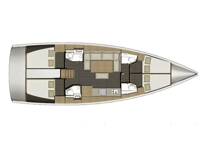 Dufour 460 Grand Large (Gerry) Plan image - 1