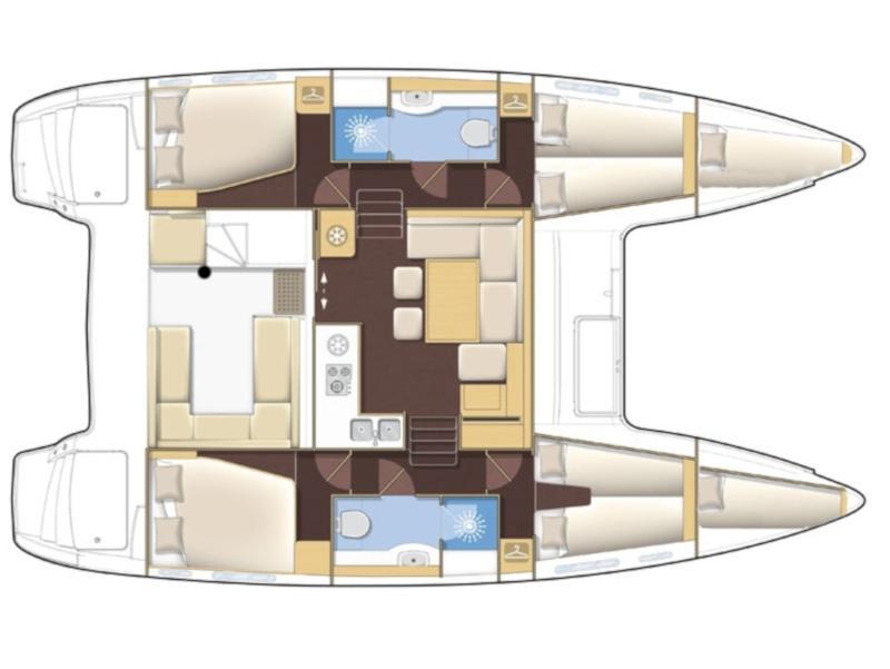 Lagoon 400 S2 (4+2 cab.) (Secret of Life) Plan image - 6