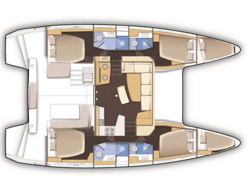 Lagoon 42 (4+2 cab) (Flying Horst) Plan image - 4