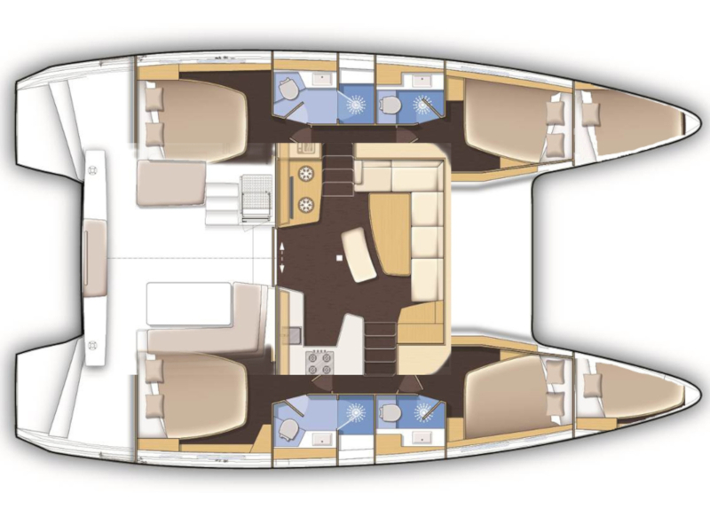 Lagoon 42 (4+2 cab) (Maximus) Plan image - 4