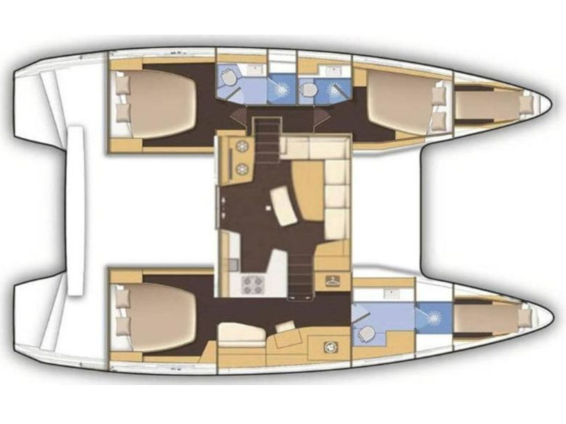 Lagoon 42 (3+2 cab.) (Nuria) Plan image - 1