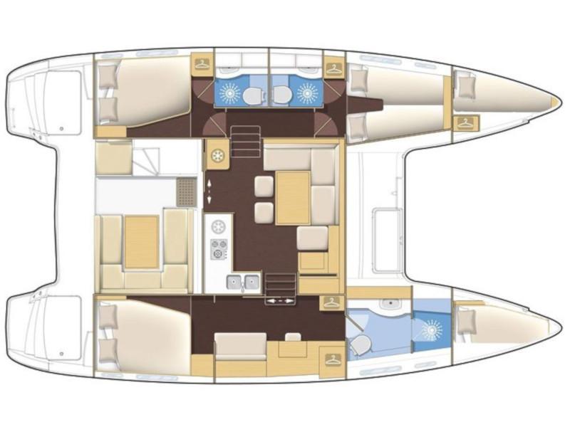Lagoon 400 S2- 3 cab. (My Dream) Plan image - 3