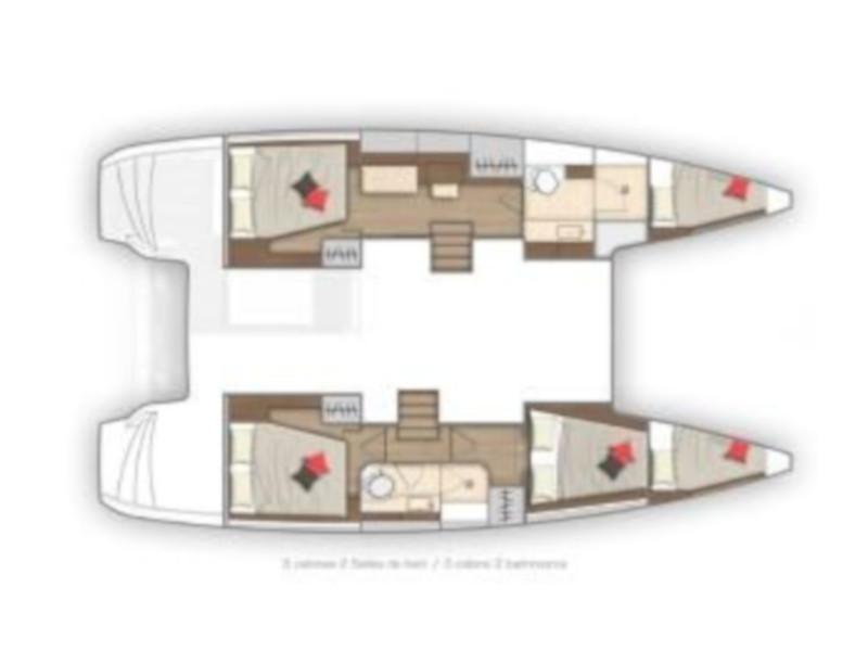 Lagoon 40 (3+2 cab.) (Millennium Falcon) Plan image - 5