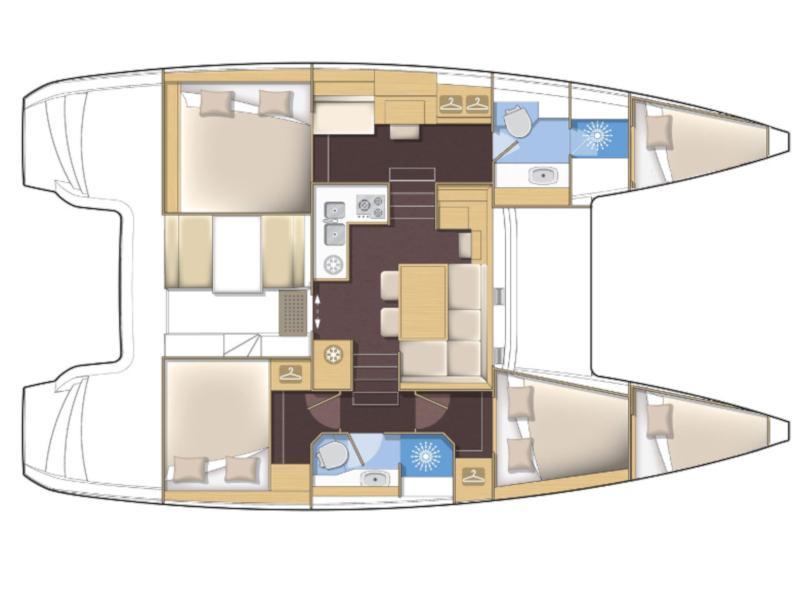 Lagoon 40 (3+2 cab.) (Family) Plan image - 2