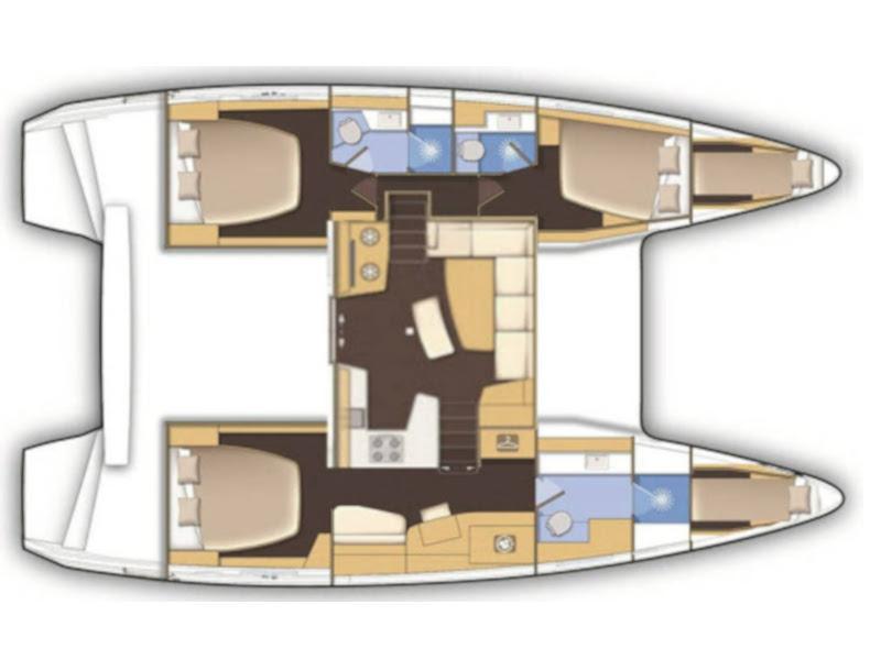 Lagoon 42 (3+2 cab.) (Skyfall) Plan image - 19