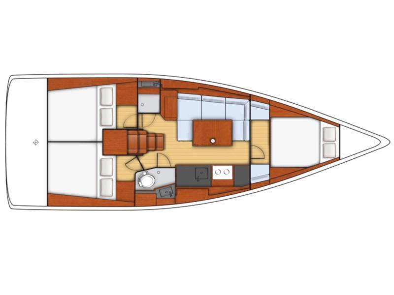 Oceanis 38- 3 cab. (Aphrodite) Plan image - 5