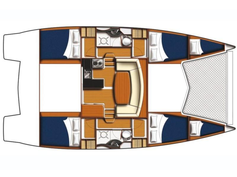 Leopard 39 PC (4+2 cab.) (Alana) Plan image - 1