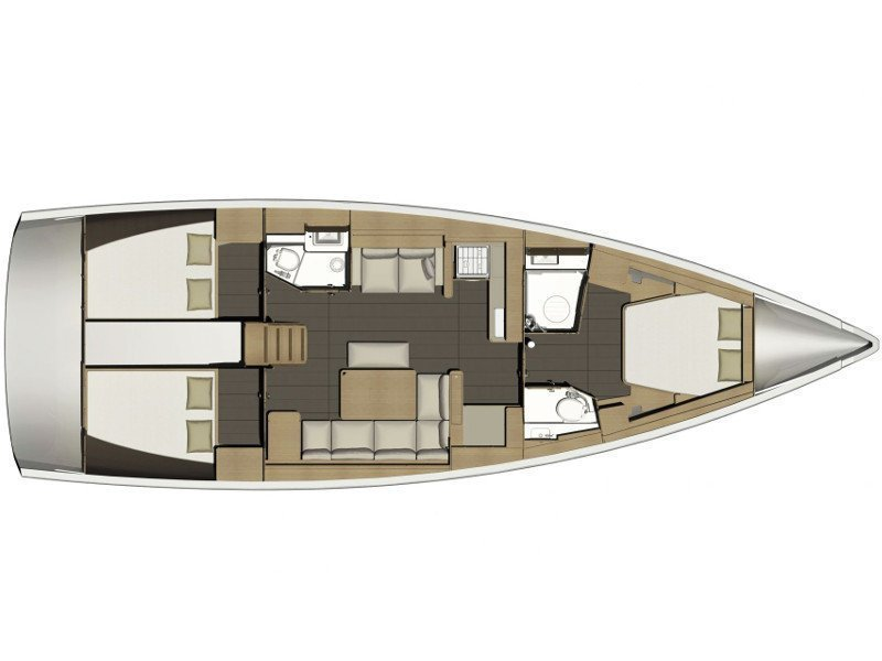 Dufour 460 Grand Large  (MALIN OV 2018+AC+G) Plan image - 19
