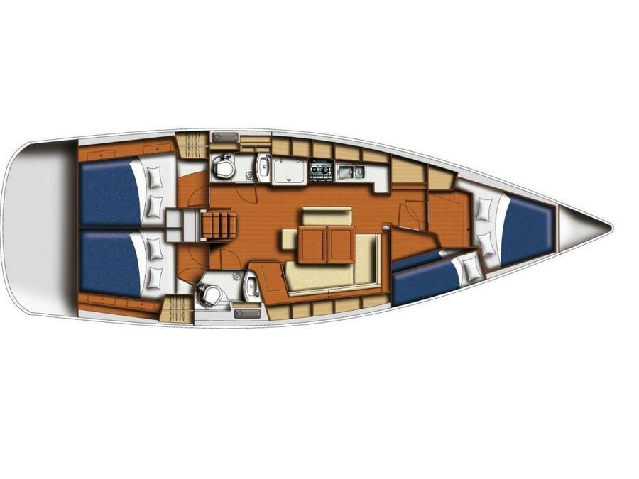 Oceanis 43 (Beneteau Liberty) Plan image - 12