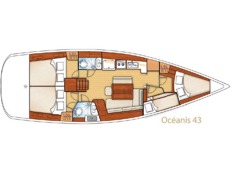 Oceanis 43 (Telma) Plan image - 1