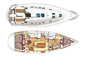 Dufour Gib Sea 43 (DIVA I) Plan image - 12