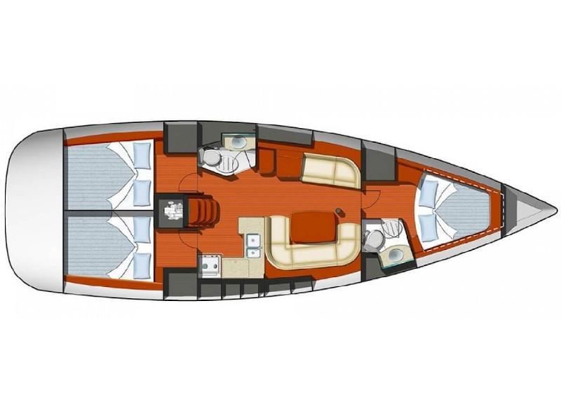 Sun Odyssey 42 i (Deneb) Plan image - 1