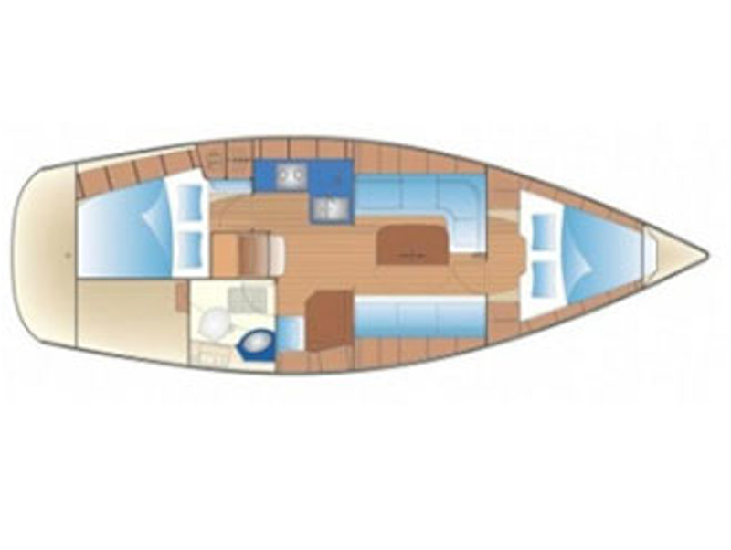 Bavaria 34 Cruiser (Dinosaur) Plan image - 1