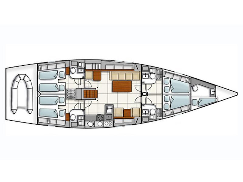 Hanse 540e (Apollonis) Plan image - 2